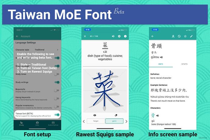 MOE font beta