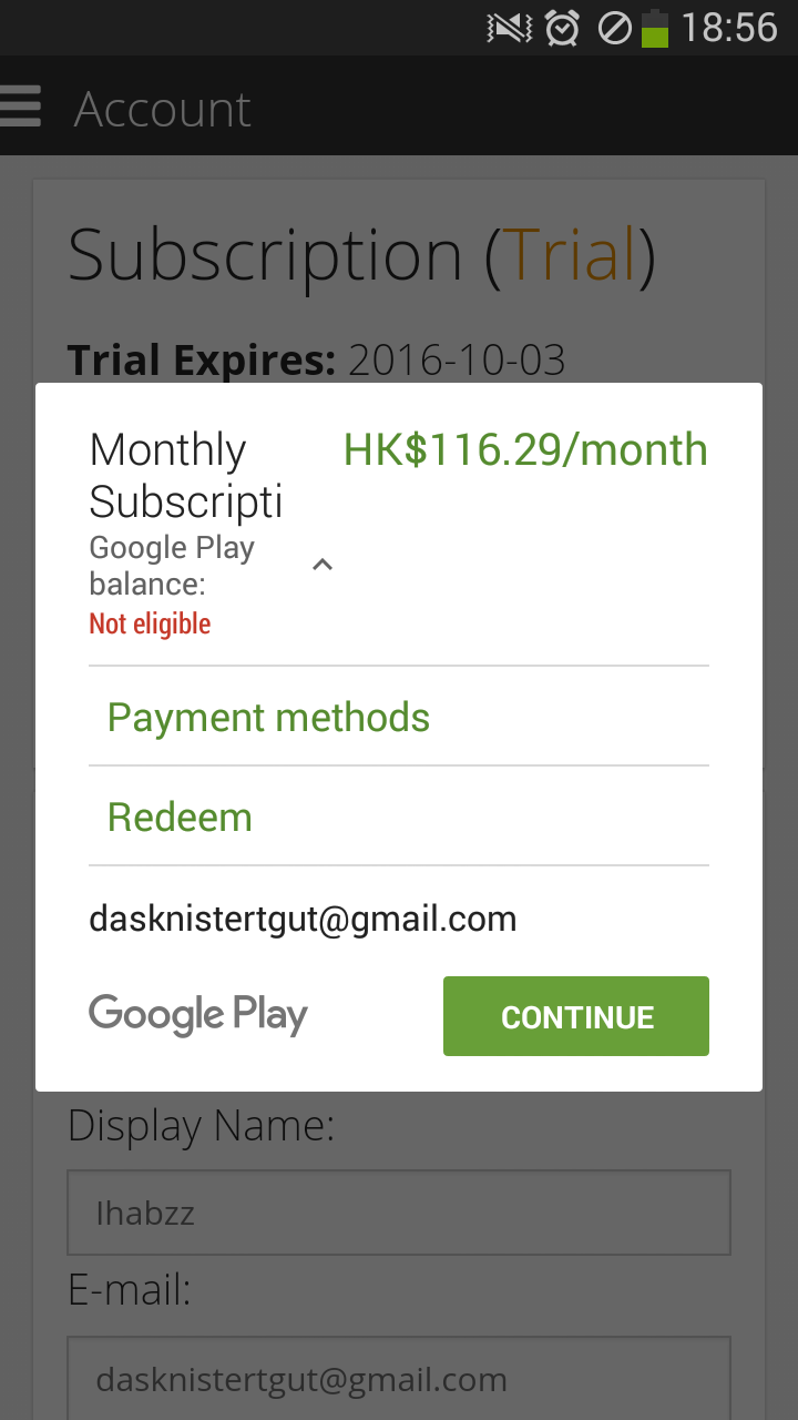 Google Play, monthly payment - Chinese - Skritter Forum